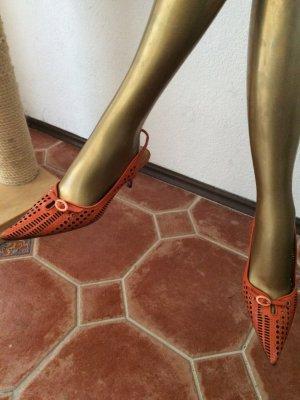 Baldinini Slingback pumps oranje