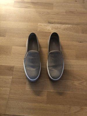 Baldinini Slip-on Sneakers beige-white leather