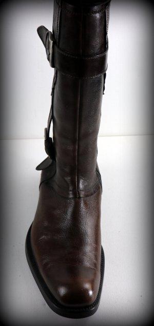 Baldinini Botas estilo militar marrón-marrón oscuro Cuero
