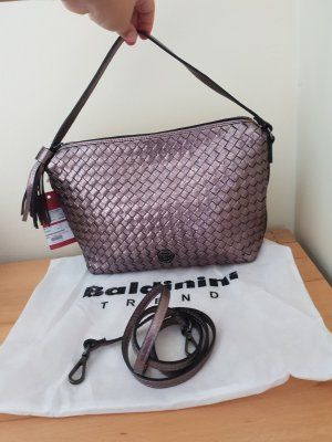 Baldinini Trend Tasche geflochtenes Leder Rosegold Metallic Neu mit Etikett