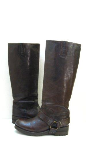 Jackboots dark brown-black brown