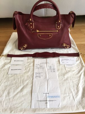 Balenciaga Sac à main bordeau
