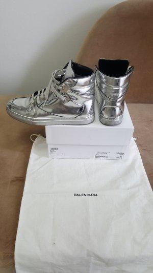 Balenciaga Zapatillas altas gris claro Cuero