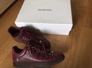 Balenciaga Zapatillas altas burdeos-color oro