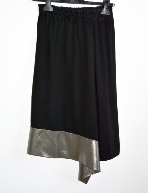 Balenciaga Falda asimétrica negro-marrón grisáceo Viscosa