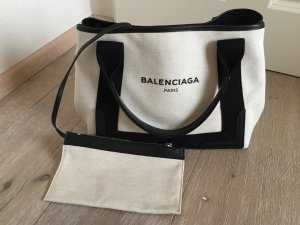 Balenciaga Handbag natural white-black cotton