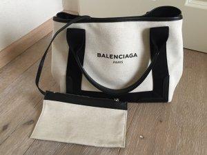 Balenciaga Handbag natural white-black cotton