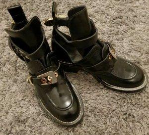 Balenciaga Ankle Boots black-gold-colored