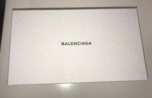 Balenciaga Shopper white-black