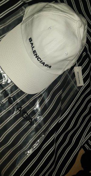 Balenciaga Casquette de baseball blanc-noir
