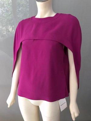 Balenciaga Cape Bluse 36 38 Rosa Pink NEU Fuchsia Poncho Blouse Shirt Top S New