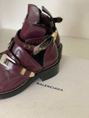 Balenciaga Stivaletto cut out bordeaux Pelle