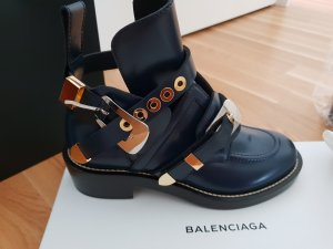 Balenciaga Enkellaarzen donkerblauw