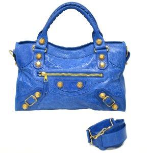 Balenciaga Handtas blauw Leer