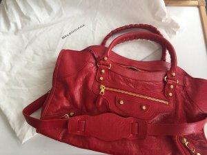 Balenciaga City Bag Sac+Miroir Pleine Fleur Aniline Red