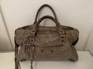 Balenciaga Handbag grey brown leather