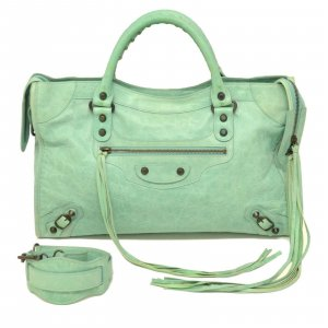 Balenciaga Handbag green leather