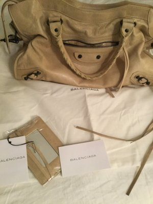 Balenciaga Carry Bag oatmeal leather