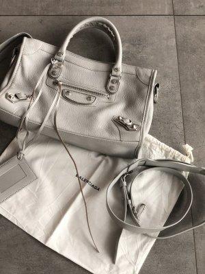 Balenciaga Borsetta mini grigio chiaro Pelle