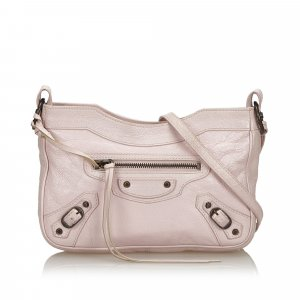 Balenciaga Crossbody bag pink leather