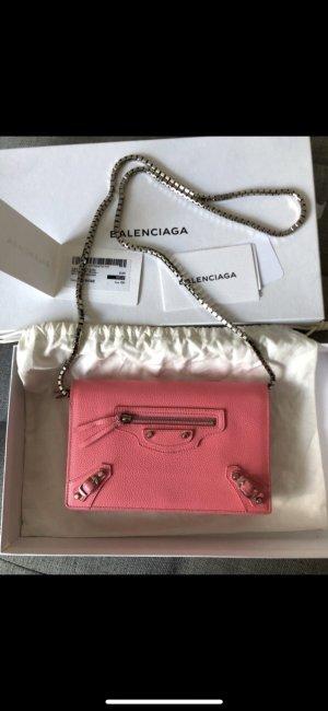 Balenciaga Borsa clutch argento-rosa