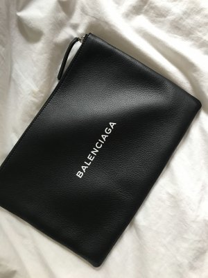 Balenciaga Clutch black-white