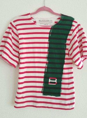 Balenciaga coachella T-Shirt mit maritimen Streifen gr M neu