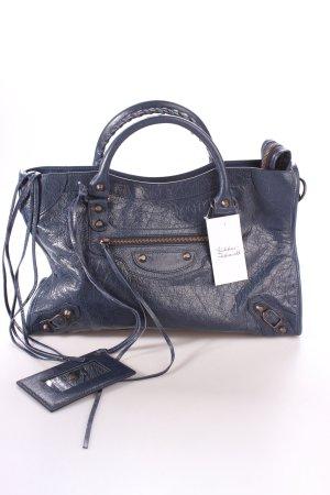 "Balenciaga Handtasche ""City Stud Blue"" dunkelblau"