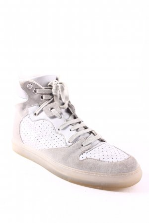 Balenciaga High Top Sneaker hellgrau-grau Materialmix-Look