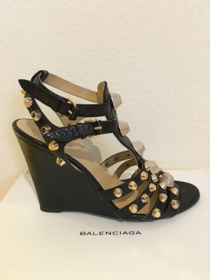 Balenciaga Strapped Sandals black leather