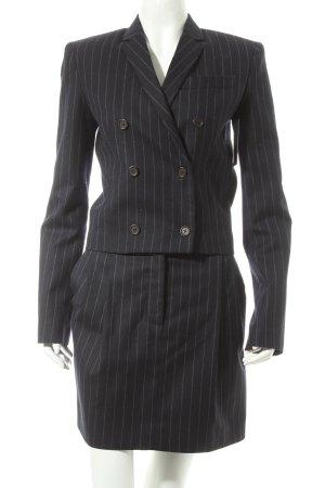 Balenciaga Kostüm dunkelblau Streifenmuster Business-Look
