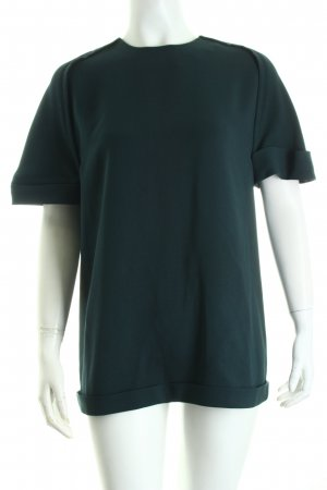 Balenciaga Kurzarm-Bluse petrol Eleganz-Look