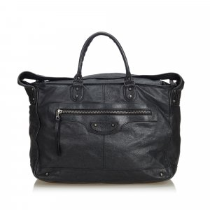 Balenciaga Shoulder Bag black leather