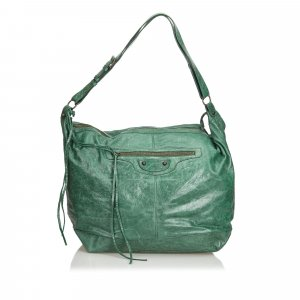 Balenciaga Bolsa Hobo verde Cuero