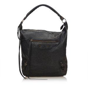 Balenciaga Hobos black leather