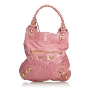 Balenciaga Borsetta rosa pallido Pelle