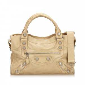 Balenciaga Satchel beige leather