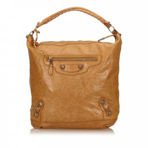 Balenciaga Shoulder Bag light brown leather