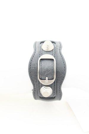 Balenciaga Lederarmschmuck grau-silberfarben extravaganter Stil