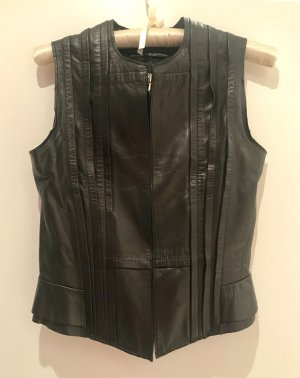 Balenciaga Leather Vest black leather