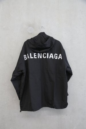 Balenciaga Logo-Back Tech-Fabric Oversized Raincoat
