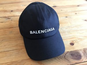 Balenciaga Baseball Cap black-white cotton