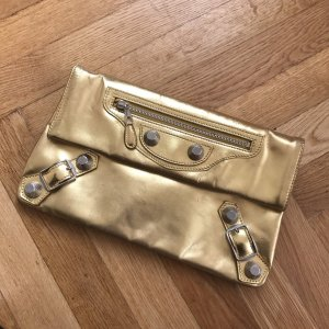 Balenciaga Metallic Edge Envelope Clutch // gold