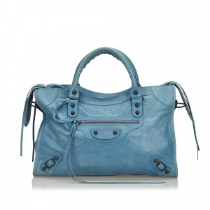 Balenciaga Satchel blue leather