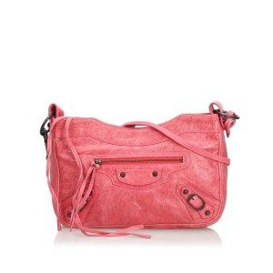 Balenciaga Bandolera rosa Cuero