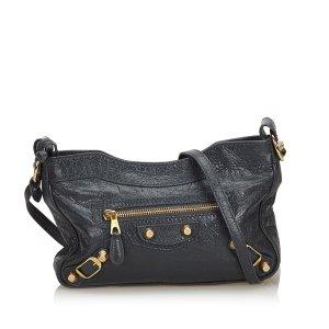 Balenciaga Gekruiste tas zwart Leer