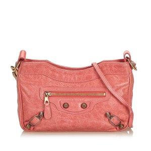 Balenciaga Borsa a spalla rosa pallido Pelle