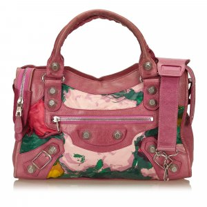 Balenciaga Motocross Giant City Floral Bag