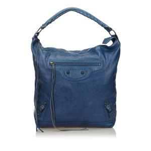 Balenciaga Hobos blue leather