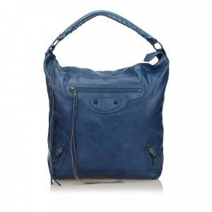 Balenciaga Hobotas blauw Leer